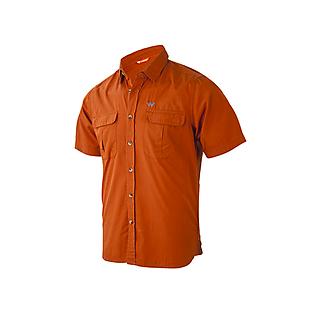 Wildcraft Men Half Sleeve Solid Shirt - Burnt Ochre